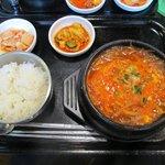 すーぷ房くだら - ピリ辛とうふスープ¥750