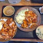三松 - 料理写真:チキン南蛮定食(増)950円