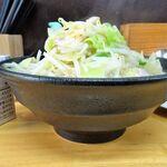 150435183 - レディースセット(タンメン・餃子2個)(大盛)1,000円、野菜増し(無料)、ライス(11:00-15:00無料)