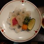 土佐料理 司 - 2021年2月 九絵鍋Bコース(九絵薄造り) 11000円×2+税