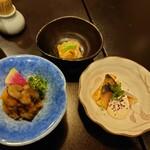 土佐料理 司 - 2021年2月 九絵鍋Bコース(先付、珍味2種) 11000円×2+税