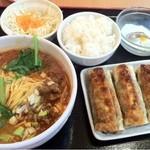 15044859 - 四川担々麺餃子セット¥780