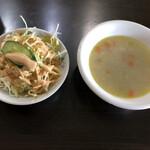 インデアンレストラン  ニューミラ - サラダとスープ