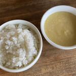 中華バルSAISAI。 - ごはんとたまごコーンスープ