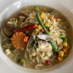 中華バルSAISAI。 - あさり入り中華風スープ焼きそば