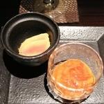 天ぷら新宿つな八 凛 - [酒のあて]フォアグラ西京漬け、このわた