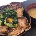 豚丼のぶたはげ - 料理写真:行者にんにく豚丼(980円)