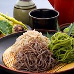 富蔵家 - 料理写真:看板メニューの3色セットは、二八・田舎・季節の変わりそばがお楽しみ頂けます。