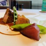 ラ メゾン ドゥ グラシアニ - ⑤【主菜】 神戸ポークのロースト、インゲンと馬鈴薯添え、豚出汁と赤ワインの煮込ソース