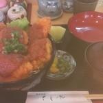 天ぷら和食 さくや - 大あさり味噌かつ丼 890円。