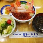 馬子とやすべ - ミニ5点丼 1540円