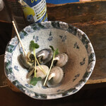 朝起 - お通しの巻貝