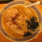 らーめん花楽 - 味噌チャーシューめん+味付けたまご 09/05/06