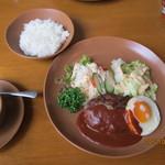 クックハウス火土水 - 2012.9.29 ハンバーグランチ スープ+ドリンク付き950円
