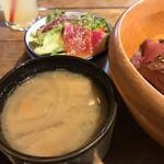 FUN SPACE DINER - サラダ、味噌汁