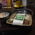 ほっかほっか亭 - 料理写真:容器は電子レンジ禁止