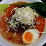 Ramen光鶏 - 期間限定 濃厚鶏担々麺(1000円税込)の麺大盛り(トッピング無料スタンプカード使用)  半ライス付きです。