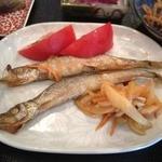 こみゅにてぃかふぇ和 - 日替わりの焼き魚は子持ちししゃも