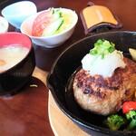 杜夢 - 料理写真:和風おろしハンバーグ定食①
