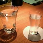 酒峰 - 「やわらぎ水」が添えて出されます