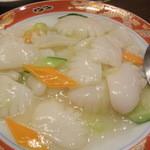 中華料理 雄 - イカの塩炒め
