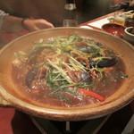 15057991 - ホタテと真鯛の南蛮味噌陶板焼き