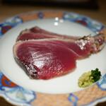東麻布 天本 - 鰹の藁焼き