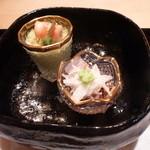 15058198 - ブロッコリーのムース、と金目鯛