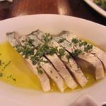 Bar Nogawa - 生鯖の酢漬け・シメサバより、お酢が強い