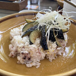 カキノキテラス - 茄子とひき肉カレー