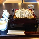 利根川蕎麦店 - もりそば+おかわり1枚