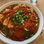 佐藤製麺所 - 料理写真:辛い汁無し麻婆豆腐麺 大盛