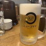 水餃子と胡椒シュウマイの二兎 - 生ビール