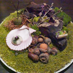 L'EAU - 水葉土樹をモチーフにしたアミューズ4つが食べられる