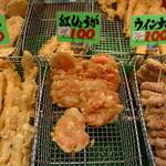 天ぷら 日進堂 - 紅生姜の天ぷらはケンミンSHOWでも話題になったとか。