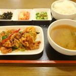 サランチェ - 豚肉甘辛炒め定食