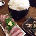 mihashiya - 夜に注文したお魚とごはん