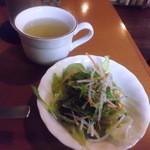 エバンス - セットのサラダ&野菜入りコンソメスープ