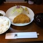 丸五 - ロースかつ定食(1750円)