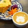 カフェデルソル - 料理写真:トロトロたまごサンド (¥400)、カフェラテ (¥500)
