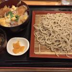 瀬谷そば - カツ丼セット 800円