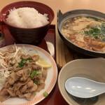 ジョイフル - スタミナ豚炒めセット ごはん大盛り(無料)