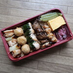 鳥麻 - 特選焼鳥弁当(鶏五目ご飯) 1200円