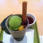 茶房 叶 匠寿庵 - 抹茶パフェ