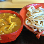 高円寺肉汁うどん 夕虹 - 肉きのこカレー汁うどん(中盛300g)¥830