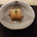 150651560 - 揚げ胡麻豆腐。要するに揚げ出し豆腐の胡麻豆腐バージョン。