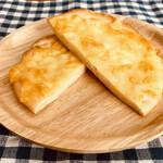 150665974 - ダブルチーズピザの断面