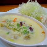 キッチン たか - アサリと野菜のクリーム煮