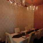 レストラン ラ フィネス - 個室も落ち着いた雰囲気です