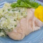 蒸し鶏 葱と生姜のソース